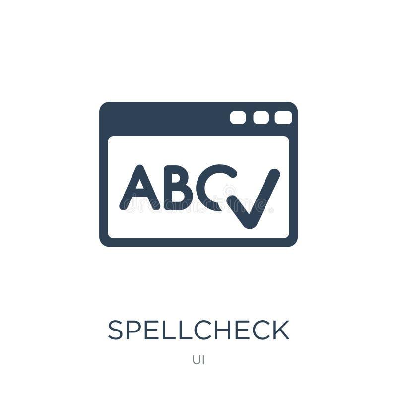 значок проверки правописания в ультрамодном стиле дизайна значок проверки правописания изолированный на белой предпосылке значок  иллюстрация штока
