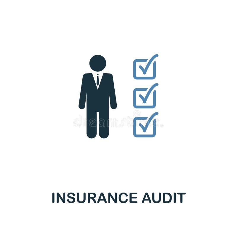 Значок проверки страхования в дизайне 2 цветов Линия значок стиля от собрания значка страхования UI и UX Insuran пиксела идеально иллюстрация штока