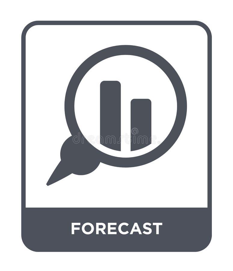 значок прогноза в ультрамодном стиле дизайна значок прогноза изолированный на белой предпосылке квартира значка вектора прогноза  иллюстрация вектора