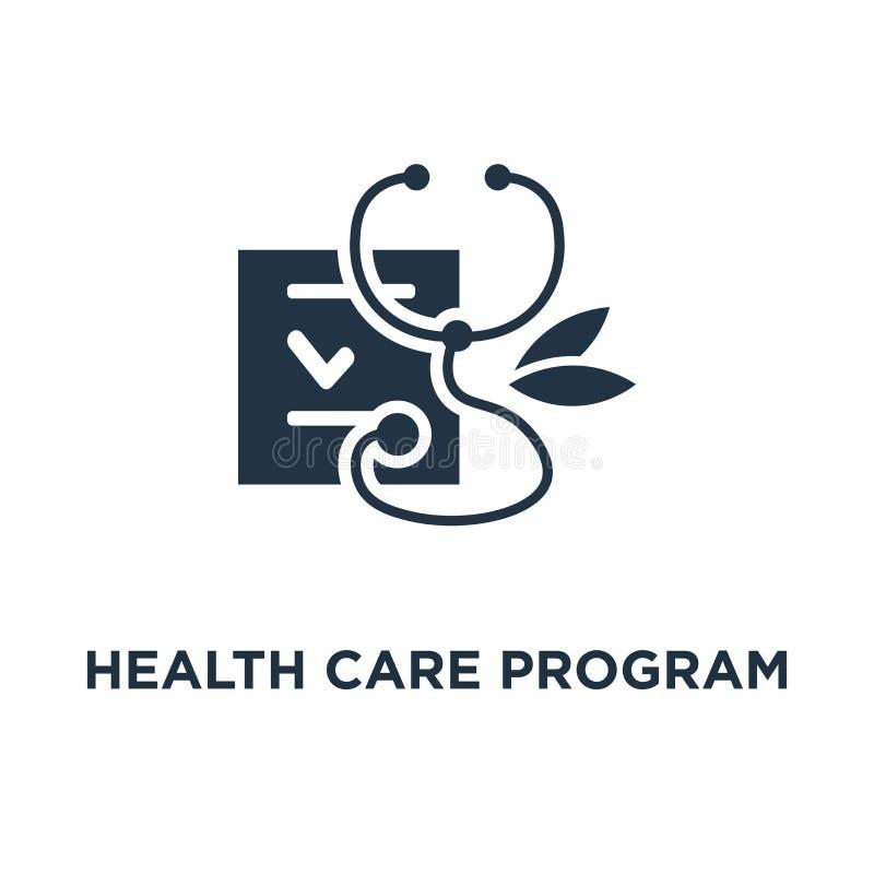 значок программы здравоохранения дизайн символа концепции медицинских обслуживаний, ежегодная проверка вверх, профилактическое ра бесплатная иллюстрация