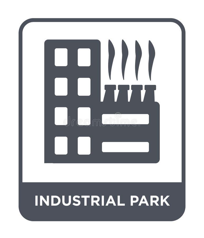 значок промышленного парка в ультрамодном стиле дизайна значок промышленного парка изолированный на белой предпосылке значок вект иллюстрация вектора