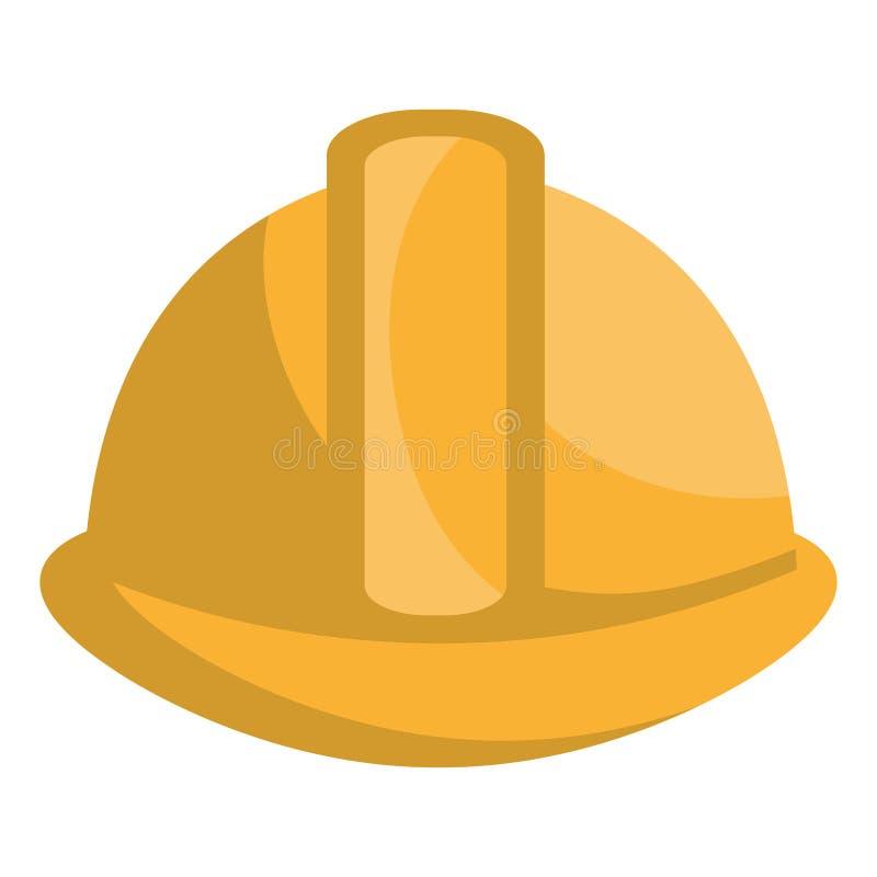 Значок промышленной безопасностью изолированный оборудованием бесплатная иллюстрация