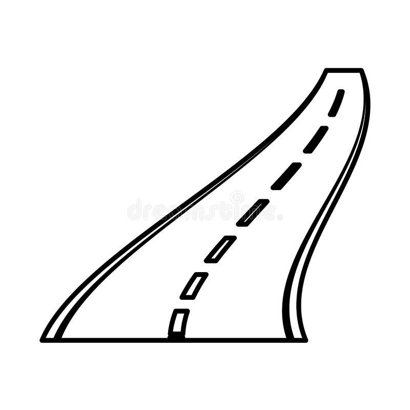 Значок прямой дороги изолированный иллюстрация вектора