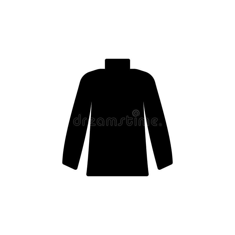 Значок пуловера на белой предпосылке Одежда или одежды или мода для иллюстрации вектора значка женщины человека иллюстрация штока