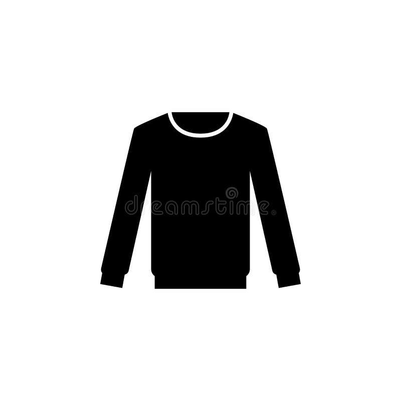 Значок пуловера на белой предпосылке Одежда или одежды или мода для иллюстрации вектора значка женщины человека иллюстрация вектора