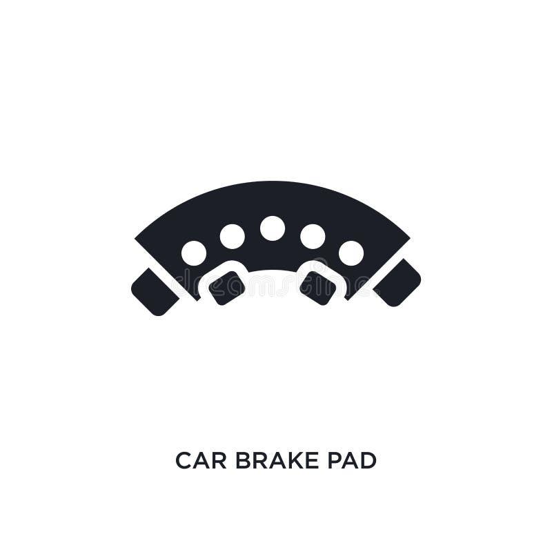значок пусковой площадки тормоза автомобиля изолированный простая иллюстрация элемента от значков концепции частей автомобиля сим иллюстрация вектора