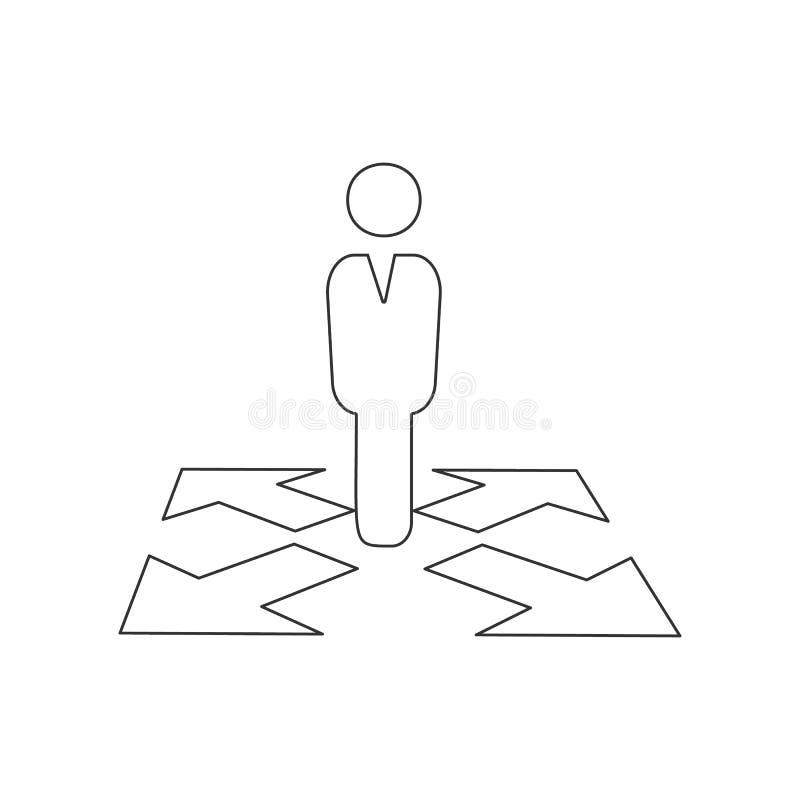 Значок пути дела Элемент HR для мобильных концепции и значка приложений сети r бесплатная иллюстрация