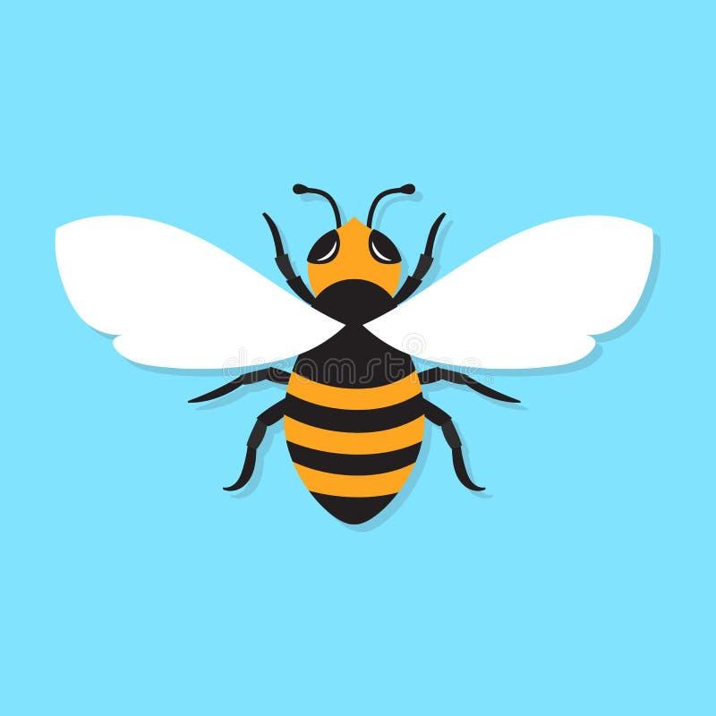 Значок пчелы, vector плоская иллюстрация иллюстрация вектора