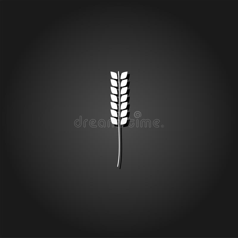 Значок пшеницы плоский иллюстрация штока