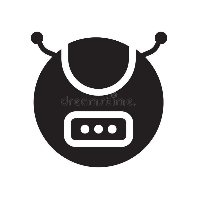 Значок пылесоса робота  иллюстрация вектора