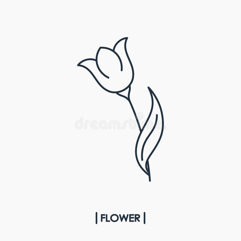 Значок плана цветка иллюстрация штока