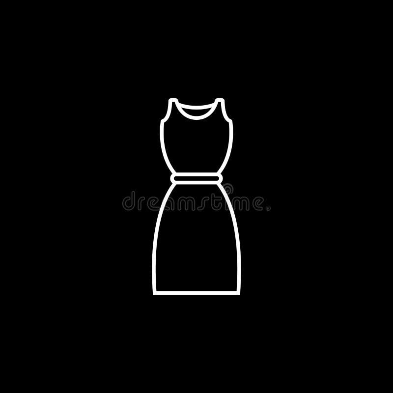 Значок платья иллюстрация штока