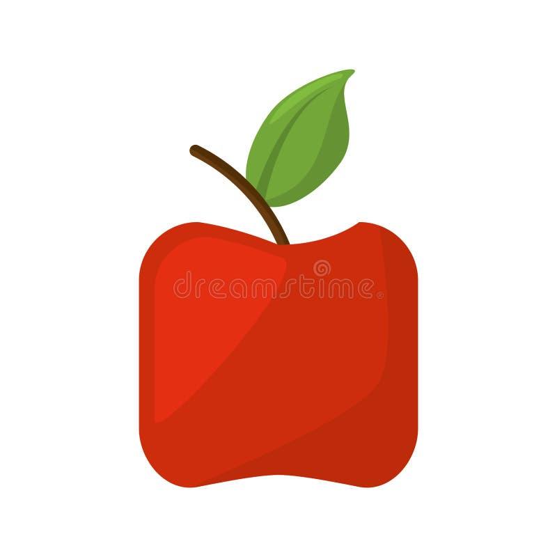 Значок плодоовощ Яблока здоровый иллюстрация вектора