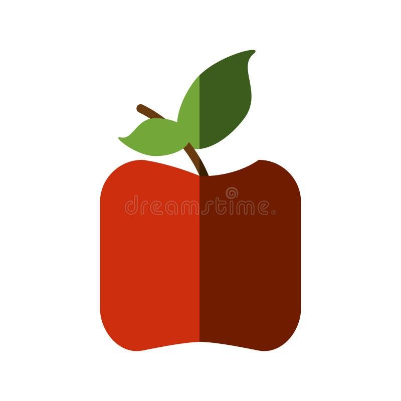 Значок плодоовощ Яблока здоровый иллюстрация штока