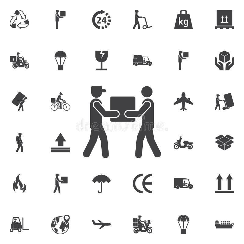 Значок работника доставляющего покупки на дом бесплатная иллюстрация