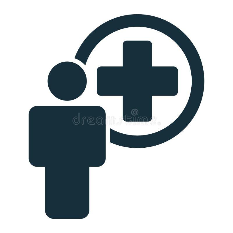Значок работника службы здравоохранения доктора стоковое фото rf