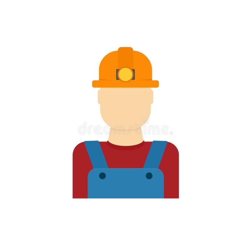 Значок работника шахтера иллюстрация вектора