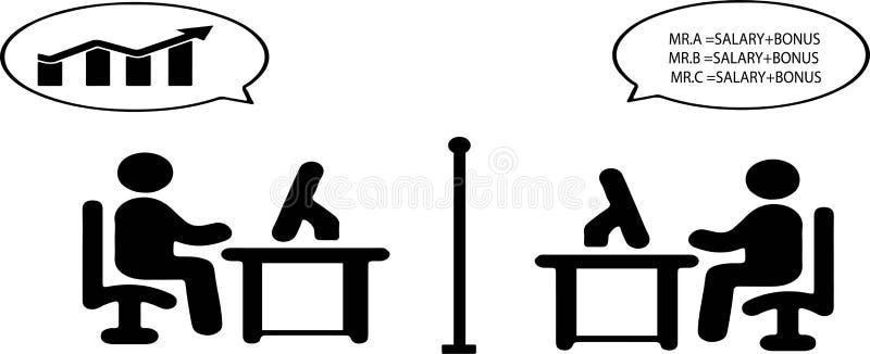 Значок 2 работников офиса на белой предпосылке бесплатная иллюстрация