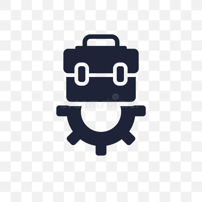 Значок работы прозрачный Дизайн символа работы от col человеческих ресурсов бесплатная иллюстрация