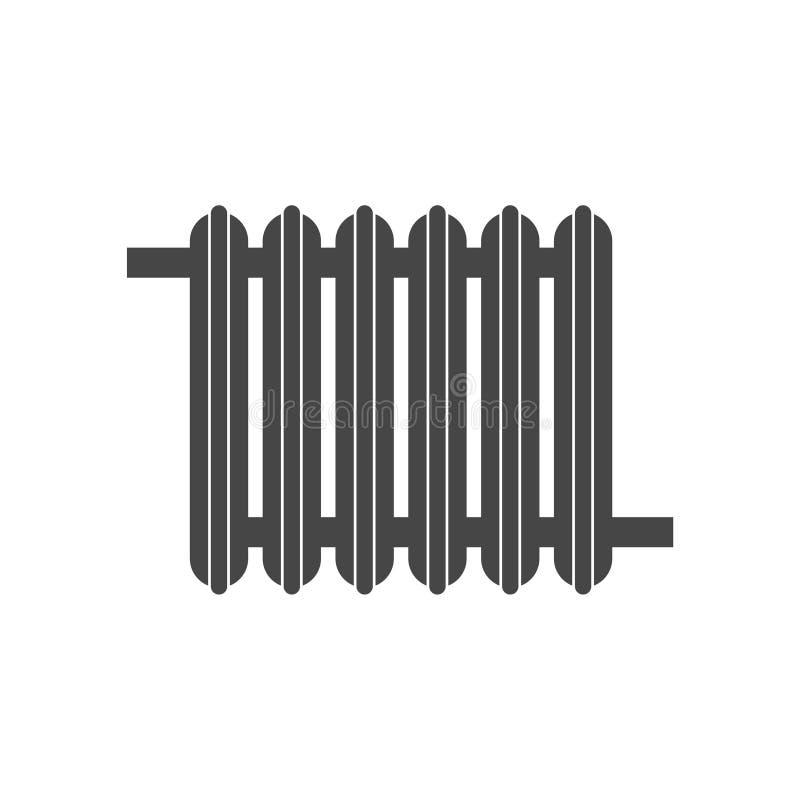 значок радиатора топления иллюстрация вектора