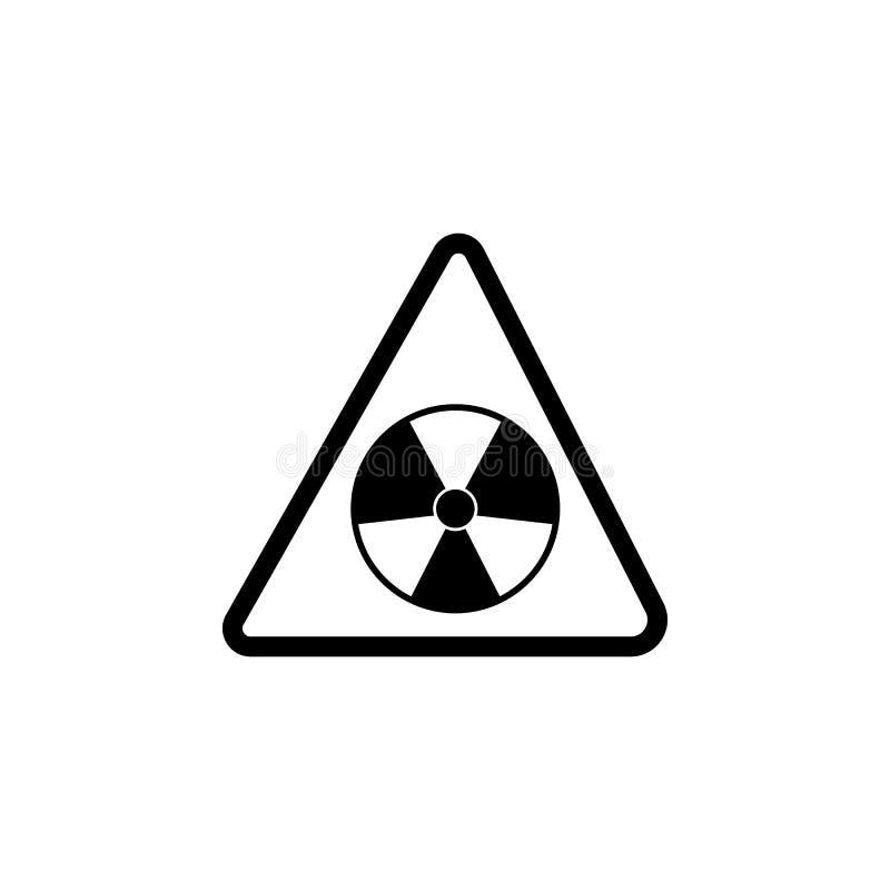 Значок радиации опасности знака Элемент предупреждения для передвижных apps концепции и сети Значок для дизайна вебсайта и развит бесплатная иллюстрация