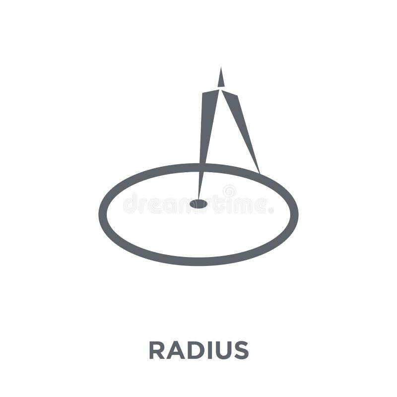 Значок радиуса от собрания геометрии бесплатная иллюстрация