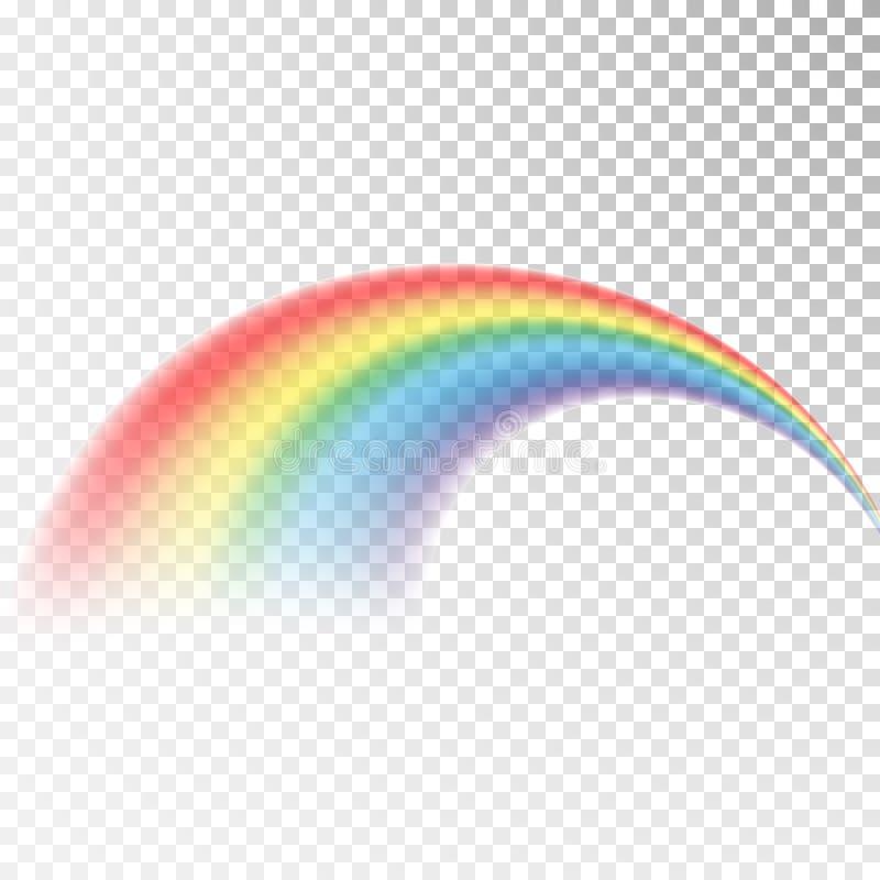 Значок радуги Красочный свет и яркий элемент дизайна для декоративной Абстрактное изображение радуги Иллюстрация вектора изолиров иллюстрация вектора