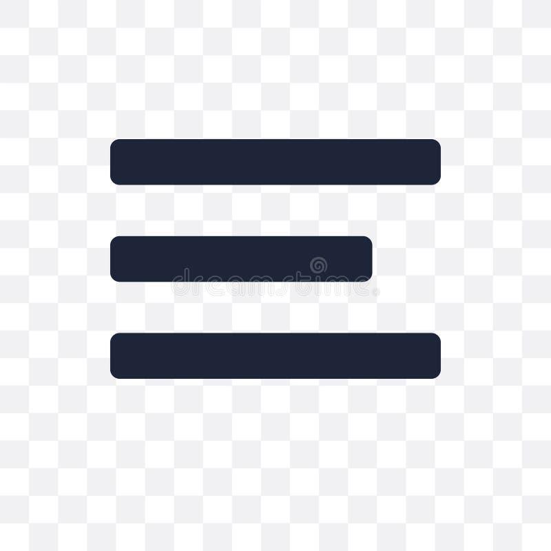 Значок разбивочного выравнивания прозрачный Разбивочное desig символа выравнивания иллюстрация вектора