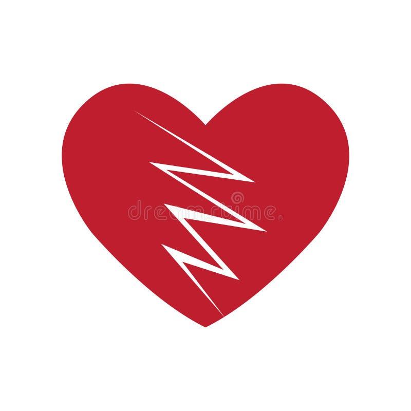 Значок разбитого сердца стоковое фото
