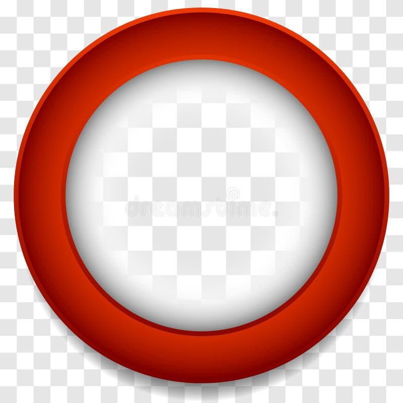 Значок рамки круга Абстрактный элемент объектива Красочное backgrou значка иллюстрация вектора