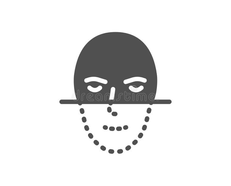 Значок распознавания лиц Смотрит на знак биометрии вектор иллюстрация вектора