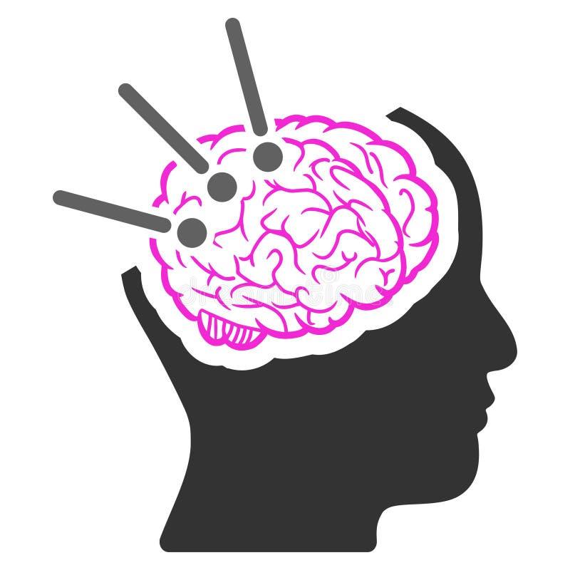 Значок растра аутопсии мозга бесплатная иллюстрация