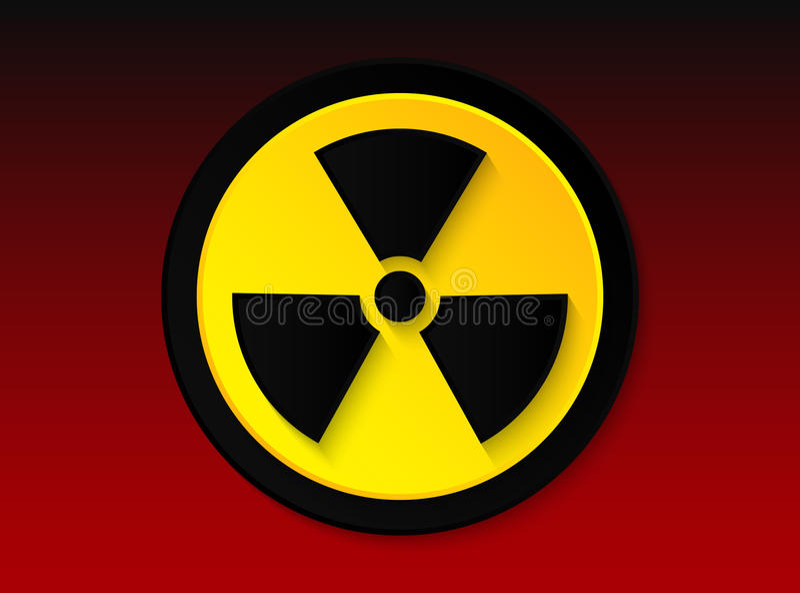 Значок радиации стоковые фото