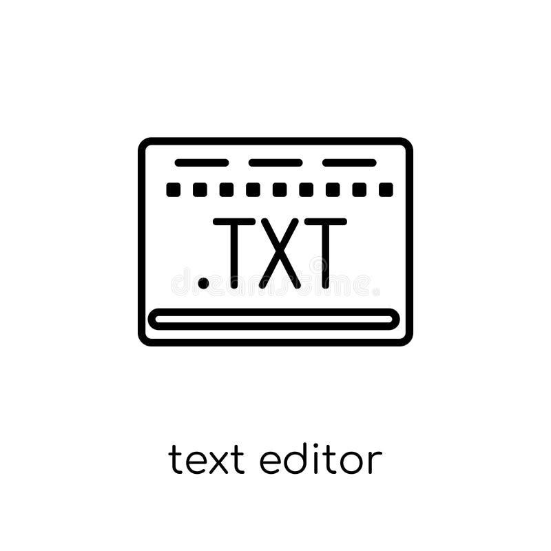 Значок редактора текста Ультрамодный современный плоский линейный редактор текста вектора i иллюстрация вектора