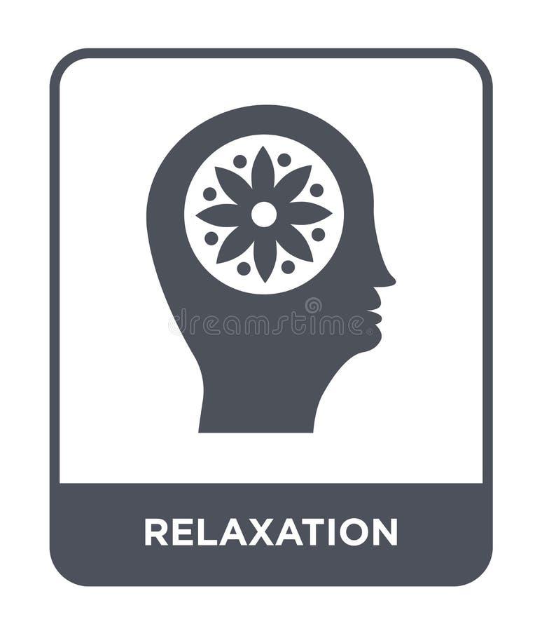 значок релаксации в ультрамодном стиле дизайна значок релаксации изолированный на белой предпосылке значок вектора релаксации про бесплатная иллюстрация