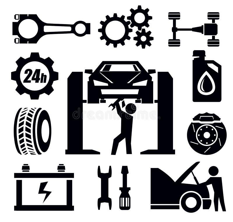 Значок ремонта автомобиля