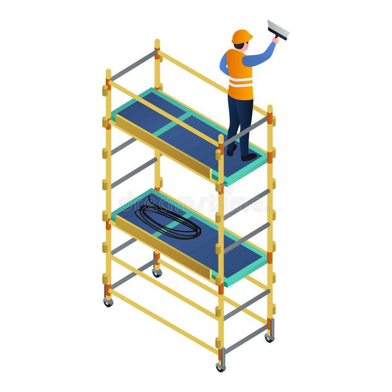 Значок ремонтины работника, равновеликий стиль бесплатная иллюстрация