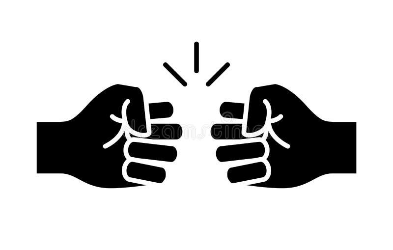 Значок рему кулака, вектор на белой предпосылке бесплатная иллюстрация