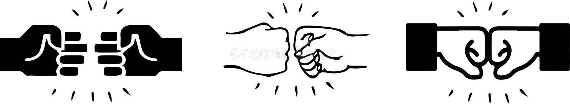 Значок рему кулака на белой предпосылке бесплатная иллюстрация