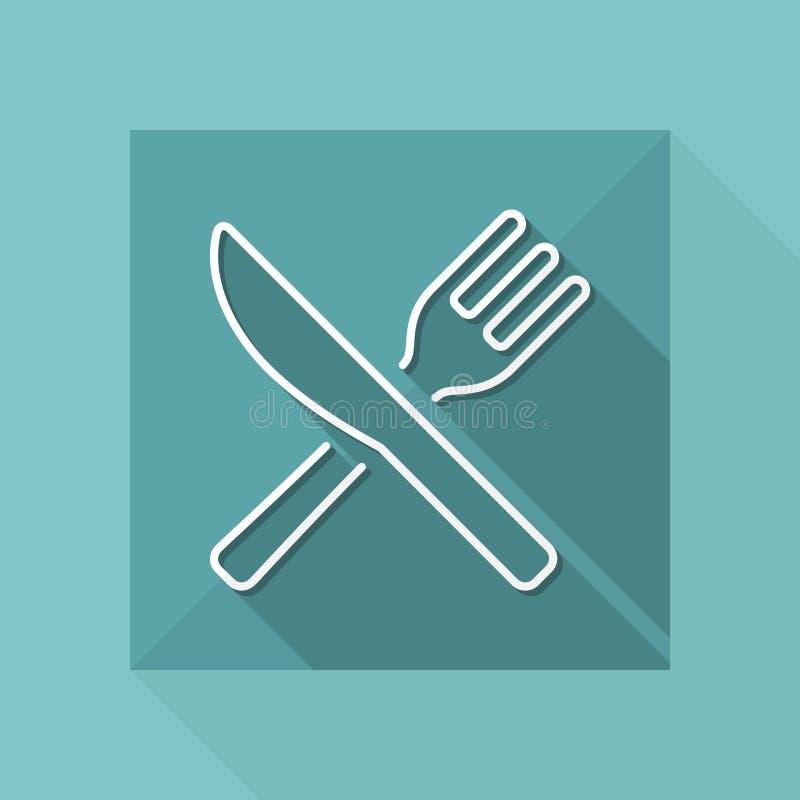 Значок ресторана - тонкая серия иллюстрация штока