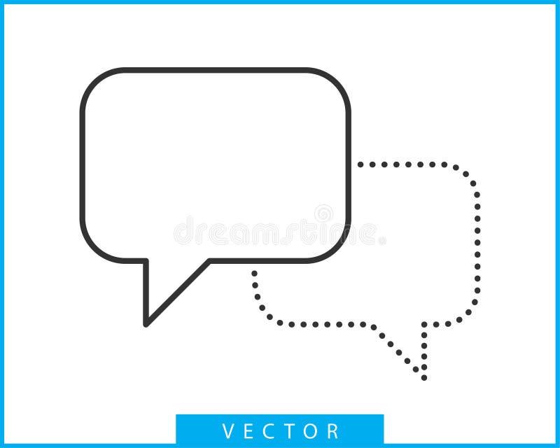 Значок речи пузыря беседы Пустые пустые элементы дизайна вектора пузырей Болтовня на линии шаблоне символа Стикер воздушного шара бесплатная иллюстрация