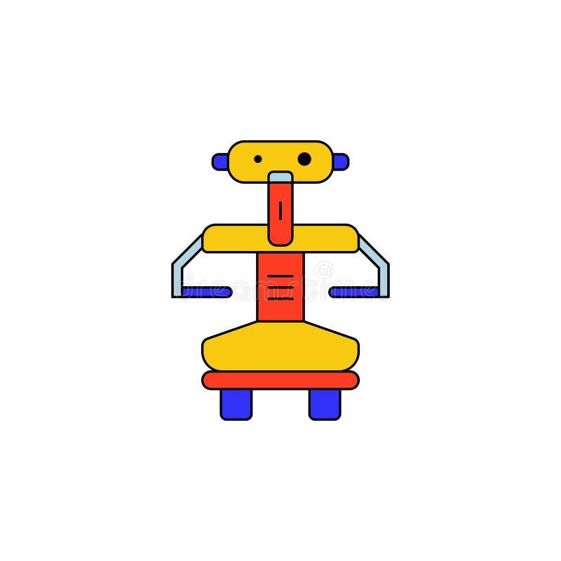Значок робота мультфильма покрашенный игрушкой Знаки и символы можно использовать для сети, логотипа, мобильного приложения, UI,  бесплатная иллюстрация