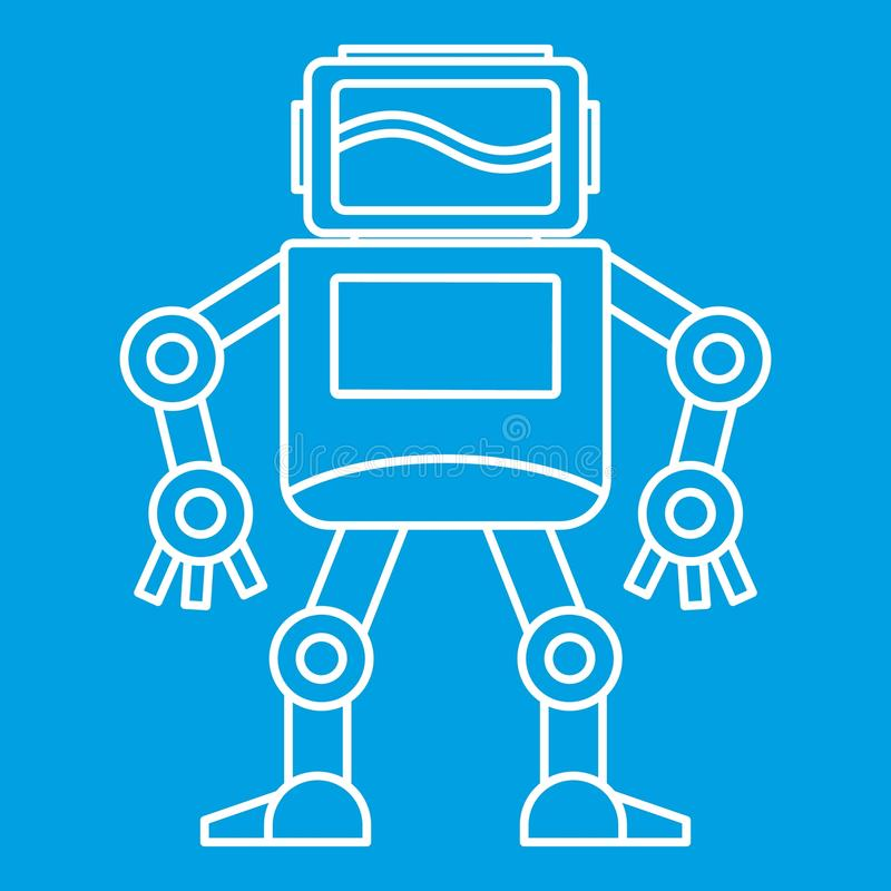 Значок робота, стиль плана иллюстрация штока