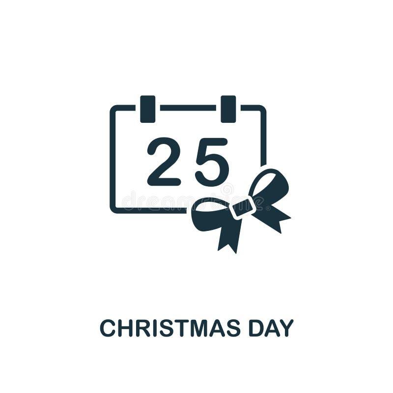 Значок Рождества Наградной дизайн стиля от собрания значка рождества UI и UX Значок Рождества пиксела идеальный для desig сети иллюстрация штока