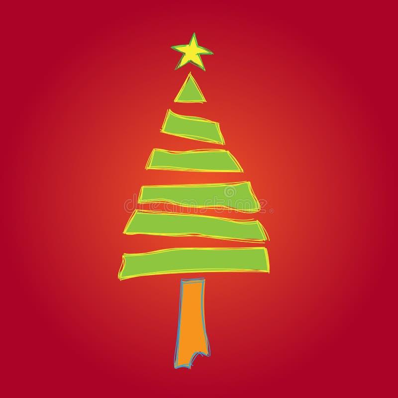 Значок рождественской елки иллюстрация вектора