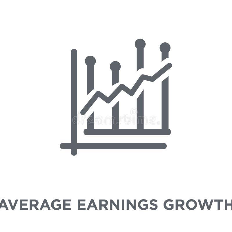 Значок роста средних заработков от collec роста средних заработков иллюстрация штока