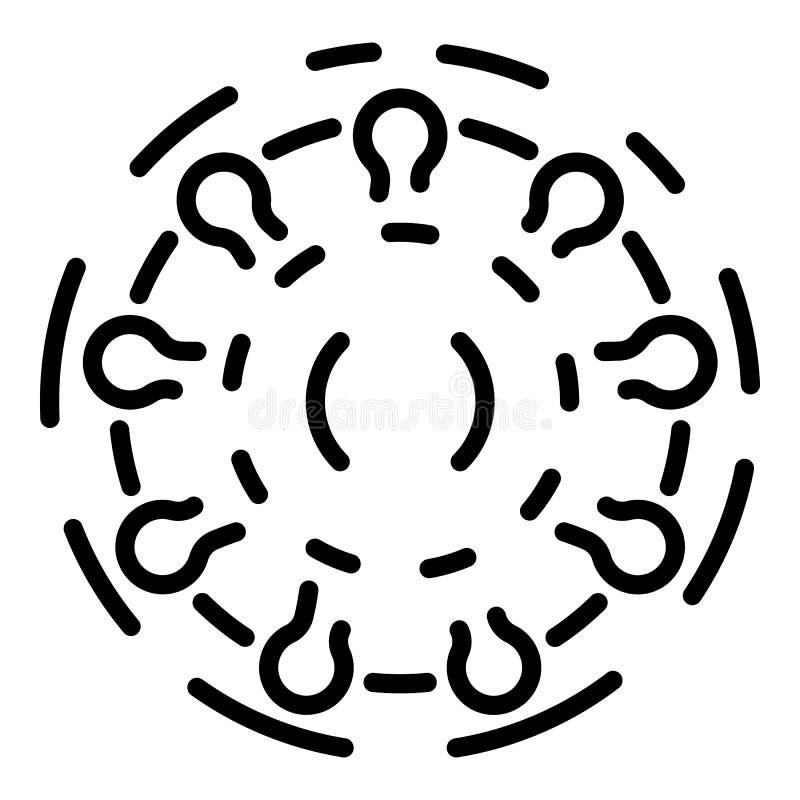 Значок ротавируса, стиль плана иллюстрация штока