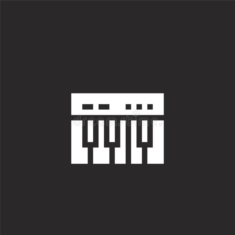 значок рояля Заполненный значок рояля для дизайна вебсайта и черни, развития приложения значок рояля от заполненного собрания муз иллюстрация вектора