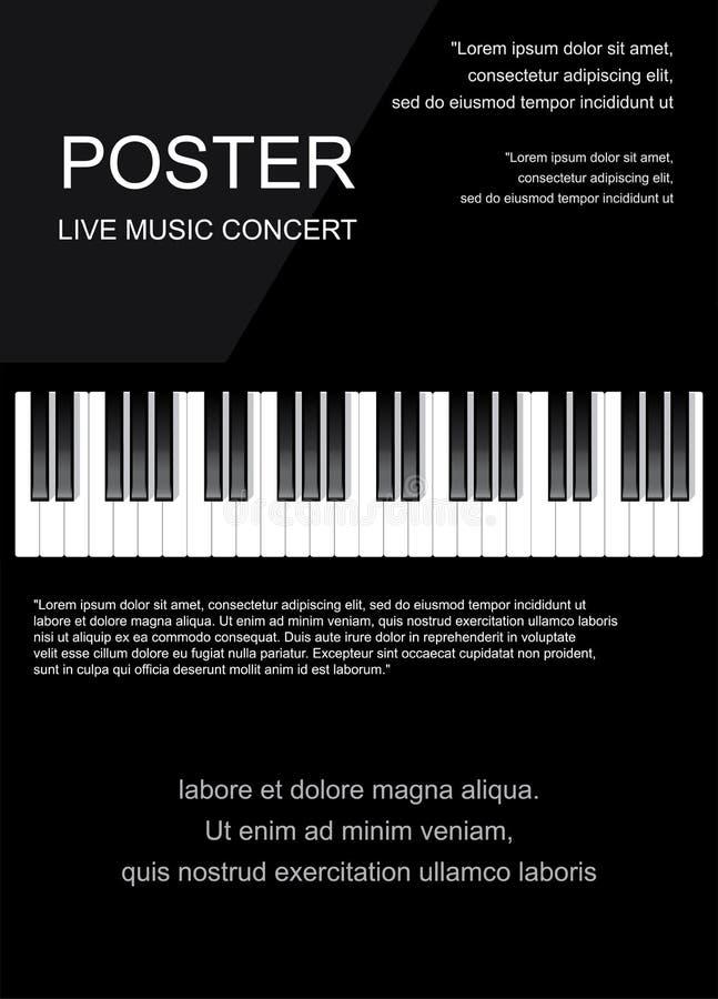 Значок рояля и ключи печати современной музыки концепции рояля и плаката рояля веб-дизайна на белом векторе иллюстрация штока