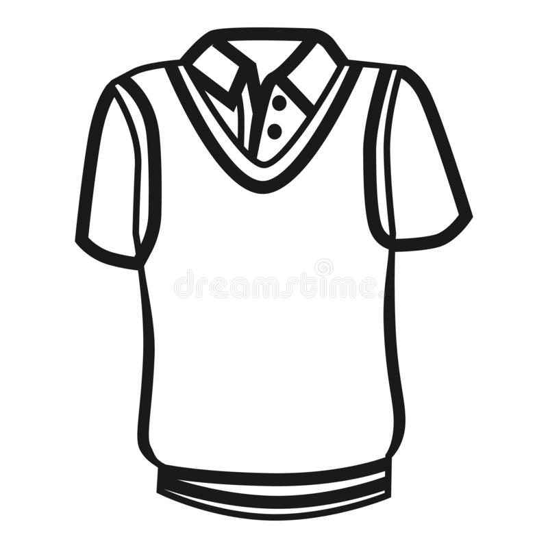 Значок рубашки сверчка, простой стиль иллюстрация вектора